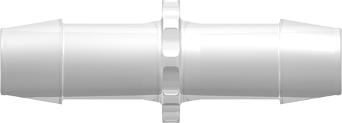 "[VP-N680-6005] Straight Through Tube Fitting with 600 Series Barbs, 1/2"" (12.7 mm) ID Tubing, Animal-Free Natural Polypropylene"