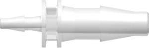 "[VP-3050-6005] Straight Through Reduction Tube Fitting with Classic Series Barbs, 3/16"" (4.8 mm) and 1/8"" (3.2 mm) ID Tubing, Animal-free Natural Polypropylene"